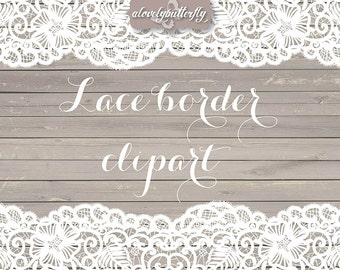 Wedding clipart lace border, rustic clipart, shabby chic wedding, lace clipart, lace border, bridal shower, INSTANT DOWNLOAD