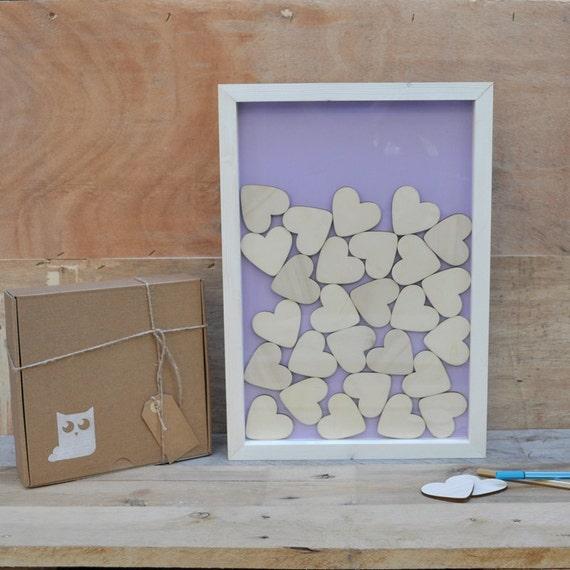 cadre en bois livre dor pour mariage avec 60 pi 232 ces coeurs en
