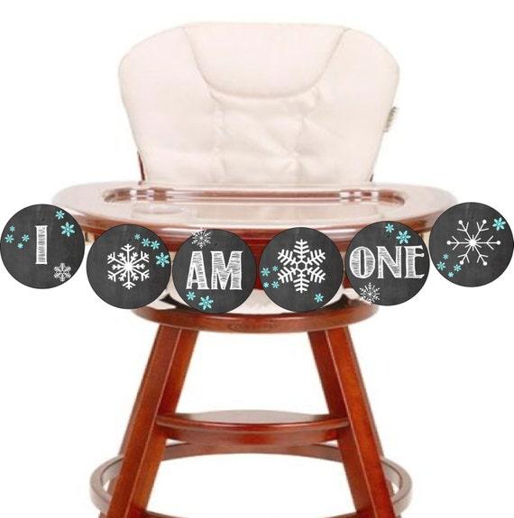 I Am One Highchair Banner First Birthday Highchair Banner