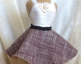 Retro 50's Brown Circle Doll Skirt