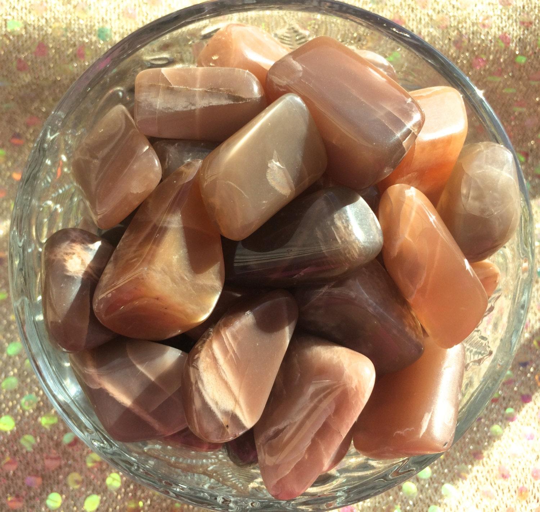 Peach Moonstone Tumbled all Natural Moonstone Chakra Reiki
