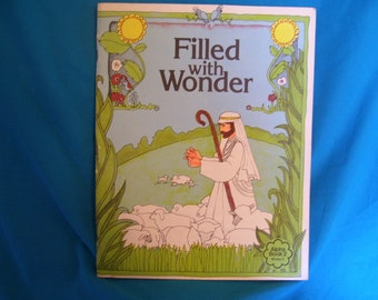 vintage 1978 Filled with Wonder Alpha Book 2 Interpreting the word: Year 1 winter  Christian Education