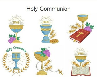 Holy Communion Machine Embroidery Designs Instant Download 4x4 hoop 10 designs SHE5034