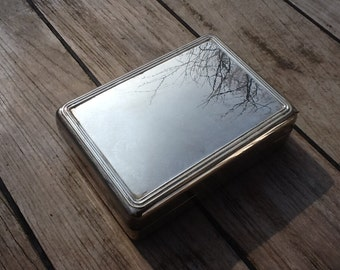 Silver plated box.