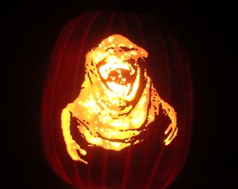 "30TH Anniversary GHOSTBUSTERS - Slimer (Hand-Carved Foam Pumpkin 12"")"