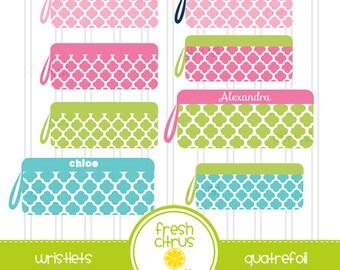 Wristlet Clip Art Quatrefoil