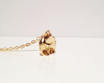 Petite Gold Elephant Gold Filled Necklace