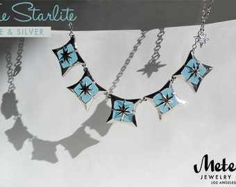 The Starlite, Blue Vintage Inspired Necklace