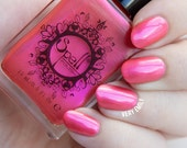 "Spell Polish ~Kitty Slippers~ watermelon pink duochrome nail polish ""Charlie Loves Bella""!"