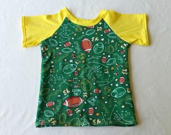 Footbal Raglan T-Shirt, 12 months
