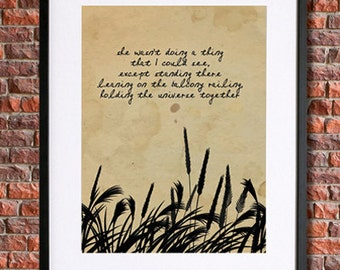 JD Salinger Quote | A Girl I Knew, Poetry Art, Quote Poster | Instant Download, American Literature | Literary Print | Literary Art