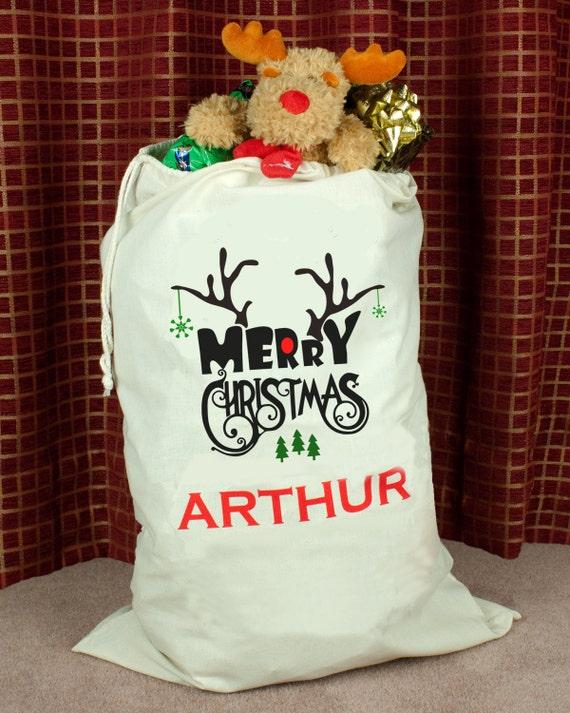 Personalised Santa Sack High Qaulity personalized santa sack personalised santa bag Christmas sack sack Christmas eve bag Christmas gift bag