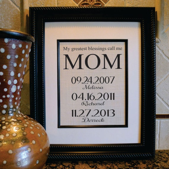 Personalized Gift For Mom Or Grandmother Grandma Gift