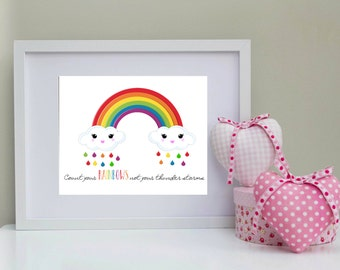 Instant Digital download count your rainbows not your thunderstorms