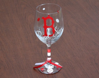 Boston Red Sox Glassware, Sports Glassware, Baseball