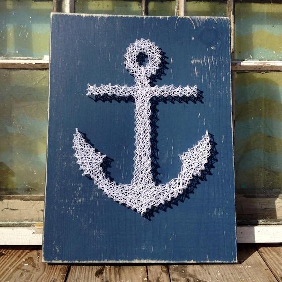 string art anchor nail art anchor anchor home decor navy