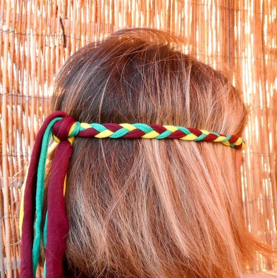 articles similaires bandeau tress pour femme bandeau hippie accessoire de cheveux boho. Black Bedroom Furniture Sets. Home Design Ideas