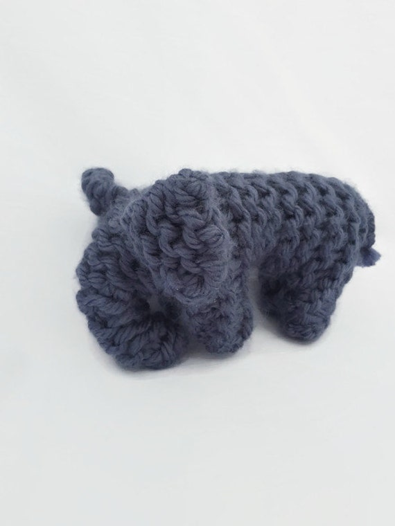 Knit Amigurumi Elephant : Knit Elephant Doll Amigurumi Doll Plush Elephant by AgapeKnits