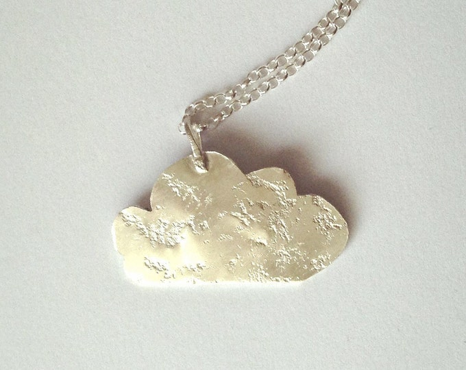 Silver Cloud Necklace - Recycled Sterling Silver - Cloud Pendant