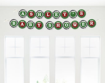 Football Garland Banner - Custom Party Decorations