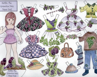Stafilia, the Grapevine Fairy Paper Doll