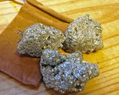 Fools Gold - Pyrite Gems - Gem Mine Party Favor - Set of Three Pyrite Stones