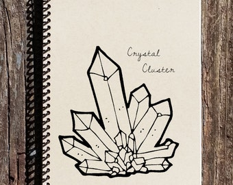 Rocks and Minerals - Gem Mining - Rock Hound Gifts - Field Notes - Crystal Cluster Notebook