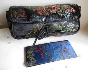 Lovely Embroidered Asian Bag and Small Note Pad Cover!