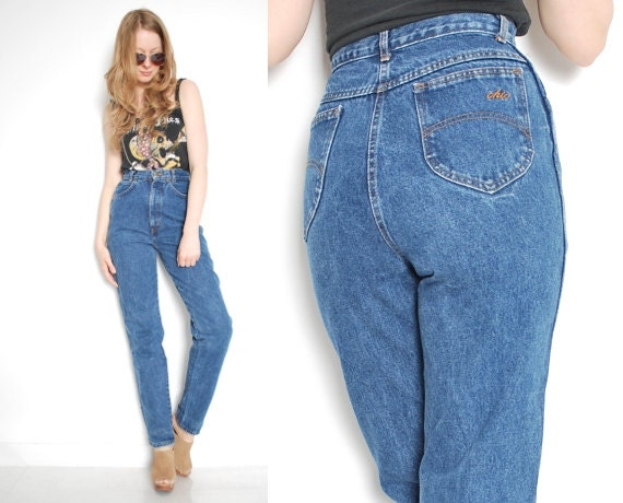 80s jeans mom jeans high waist tapered legs by. Black Bedroom Furniture Sets. Home Design Ideas