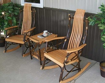 Hickory 3pc. Rocking Chair Set