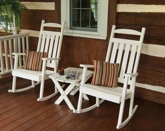 Yellow Pine Classic Porch Rocker