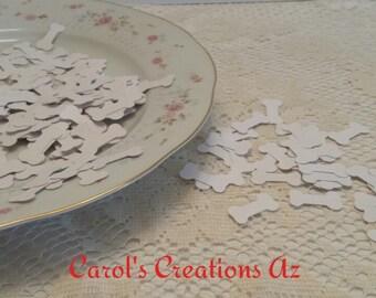 200 Dog Bone Confetti / Dog Bone Die Cut / Bone Table Confetti / Dog Bone Table Confetti / Scrapbooking Embellishment / ANY COLOR (S)