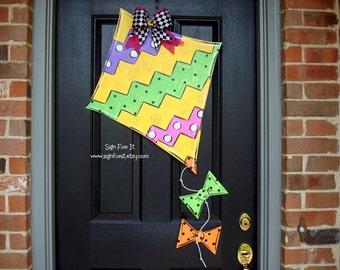 Chevron Swirl Kite Door Sign