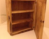 Handmade Scottish Oak Burr Bathroom or Kitchen Cabinet