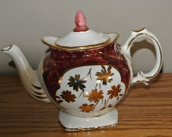 RARE Vintage Price Kensington Teapot  Stamped and Impressed with  Made in England