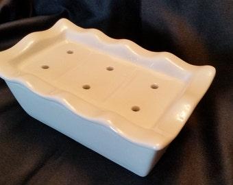 Draining Soap Dish - Ceramic - 2 piece