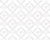 1 in a Minion White Set Geo Blender - 1 yard - Quilting Treasures