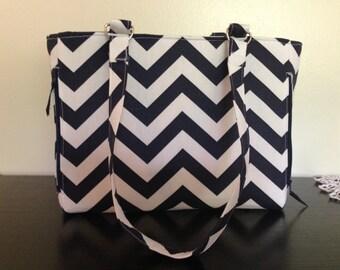 Concealed Carry Handbag Navy Blue
