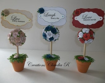 Mini topiary/ home decoration/ Set of 3