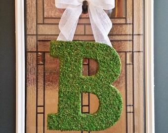 front door lettersMoss letter wreath  Etsy