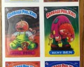 1985 Garbage Pail Kids Strip of 10 Cards Mint