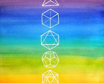 Platonic Solids  - Lustre Print