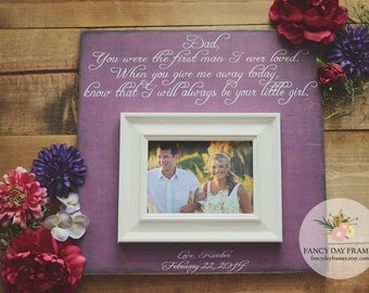 Father of the Bride Gift Parents Thank You Gift Wedding Gift Personalized Picture Frame