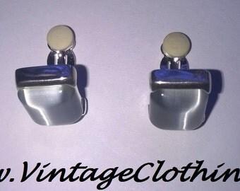 Vintage Carolee Aquamarine clip on Earrings, Vintage Earrings, Carolee, Clip on Earrings, Vintage Jewellery, Vintage Carolee Earrings