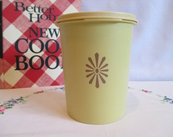 Small Tupperware Harvest Gold Servalier Canister