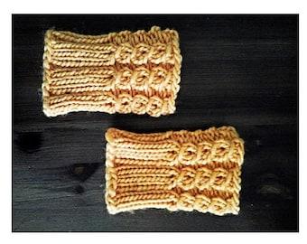 Holland Boot Cuffs - chunky boot cuffs, fold-over boot cuffs, chunky knit cuffs, chunky leg warmers