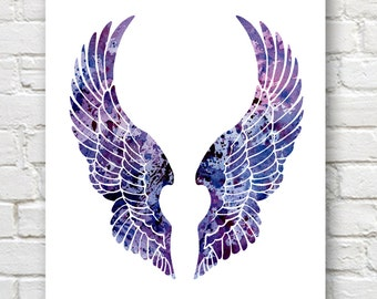 Wings - Art Print - Abstract Watercolor Painting - Wall Decor
