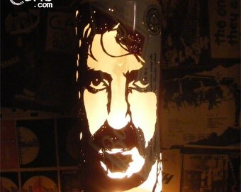 Frank Zappa Beer Can Lantern: Mothers Of Invention Pop Art Candle Lamp - Unique Gift!