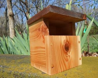 Finished Cedar Carolina Wren Nesting Box / Birdhouse