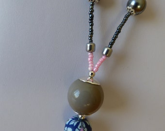NECKLACE sphere peony - Made in FRANCE